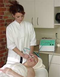 Microdermabrasion in a spa. See more getting beautiful skin pictures.