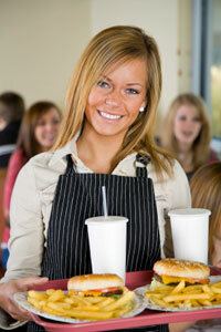 Federal law says that your server should be paid a base salary of no less than $2.13 an hour before tips.