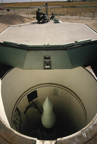A Minuteman nuclear missile in its silo at Warren Air Force Base in Wyoming, 1965.