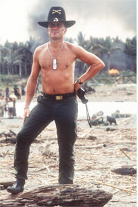 "He loves the smell of napalm in the morning -- Robert Duvall as Lt. Col. Kilgore on the set of ""Apocalypse Now."""