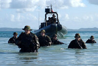 SEALs leaving an RHIB