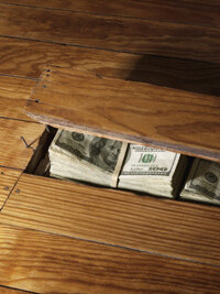 You may prefer to keep your money hidden at home rather than hand it over to a bank.