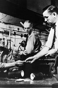 Roy Plunkett (right), inventor of Teflon