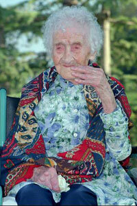 Jeanne Calment at age 120.