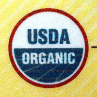 A United States Department of Agriculture organic label.