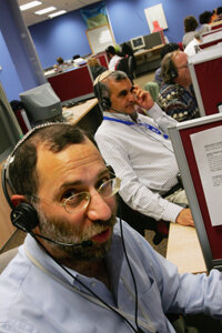 ­For large call-centers such as this one in Israel, it's often more cost-effective for companies to outsource.