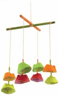 Enrich any home with these glittering wind chimes.
