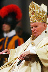Pope John Paul II suffered from Parkinson's disease.