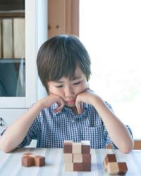 Some children may show difficulty relating to objects.