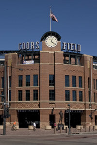The clock atop Denver's Coors Field is a Bulova timepiece.