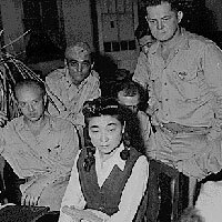 "Iva Ikoku Toguri, ""Tokyo Rose,"" was convicted of treason for her role in Japanese propaganda during World War II."