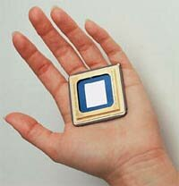 A DMD is small enough to fit in a person's hand.