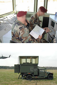 The mobile air traffic control unit allows Army personnel to deploy ATC towers to remote airstrips.
