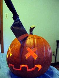 """A """"murdered"""" pumpkin"""