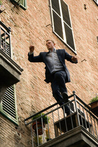 """Daniel Craig leaps across a fire escape in """"Quantum of Solace."""""""