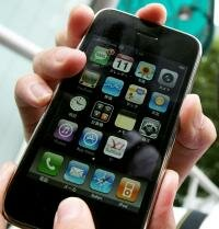 The Apple iPhone features touch-screen navigation. See more iPhone pictures.