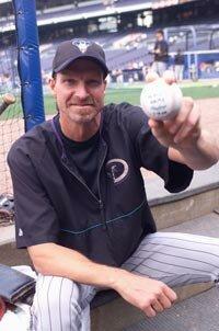 Arizona Diamondbacks pitcher Randy Johnson was the last major leaguer to throw a perfect game.