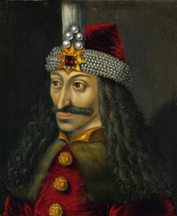 A painting of Vlad (Dracula) Tepes, the 15th-century prince who inspired Bram Stoker's fictional vampire
