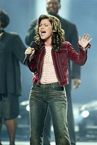 Kelly Clarkson sings just after winning the first 'American Idol' competition. Clarkson has gone on to a platinum-selling career, but not every winner has been so lucky.