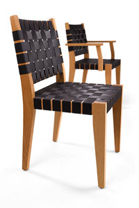 Would you believe these stylish Danko chairs are actually made from seatbelt remnants?