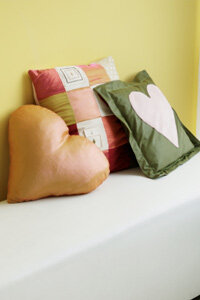 Repurpose your favorite team T-shirt into a decorative pillow.