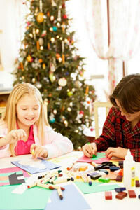 Making holiday crafts from recycled materials is a fun way to cut back on waste.