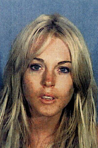 Lindsay Lohan at the Los Angeles County Jail following her second DUI.