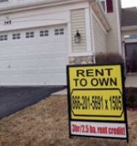 A rent-to-own home offered for sale in a subdivision in March 25, 2008, in Bolingbrook, Illinois.