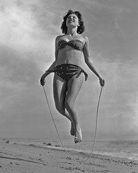 A bandeau top and high-cut bandana-print brief made for a still-functional 1960s bikini.