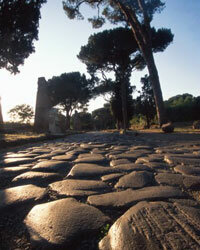They don't build them like they used to. Ancient Roman roads like the Appian Way were made to last.