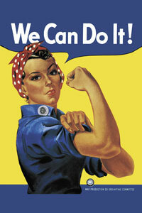 The iconic image of Rosie the Riveter