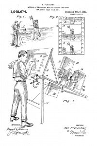 One of Max Fleischer's rotoscope patent application drawings