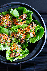 Using lettuce eliminates extra, unnecessary carbs that come with traditional flour wraps and makes room for yummy noodles instead!