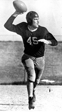 "Sammy Baugh, one of football's most accurate tossers, was dubbed ""Slingin' Sammy."" See more pictures of football."
