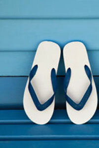 Flip-flops are a summer staple, but check with your workplace dress code before you wear them into the office.