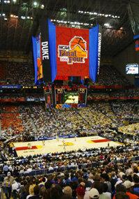The Georgia Tech Yellow Jackets take on the Oklahoma State Cowboys in the 2004 NCAA Final Four Tournament.