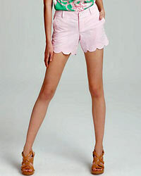 Seersucker shorts, like these from Lily Pulitzer, are always cool on a hot summer day.