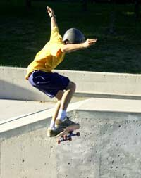 A child executing an Ollie