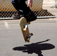"""Skateboarding Image Gallery Surfers used to call skateboarding """"sidewalk surfing."""" See more pictures of skateboarding."""