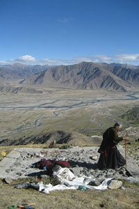 Site of a Tibetan sky burial. See more pictures of Tibet.
