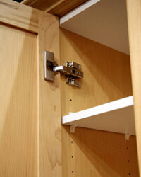 Adjustable shelves can grow along with your wardrobe.