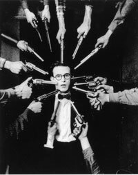 """Prior to the 1920s, there were no gun control laws on the books in the U.S., a point understood by silent film star Harold Lloyd in """"An Eastern Westerner."""" See more gun pictures."""