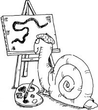 Snails can be very artistic.