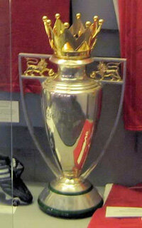 The Premiere League trophy