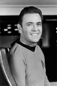 """After repeatedly hearing """"Beam me up, Scotty"""" during his """"Star Trek"""" career, actor James Doohan elected to have a little bit of himself beamed up into space after he died."""