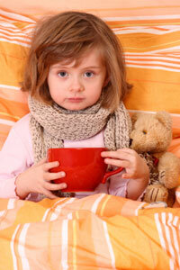 If you're under the weather, you might want to try tea -- and a teddy bear.