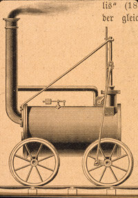 Cornish inventor and engineer Richard Trevithick's steam locomotive successfully hauled 25 tons of cargo and 36 passengers at Pen-y-Darren, Wales in 1804.