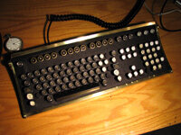 The finished product: Jake von Slatt's fully steampunked computer keyboard.