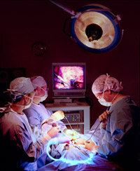 Laparoscopic surgeons must be able to connect hand movement to remote movement viewed on a screen.