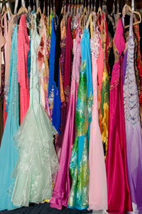 Consignment shops are a great place to find formalwear at a discount.